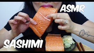 ASMR Salmon Sashimi (EXTREME SAVAGE EATING) Whole Big Slice NO TALKING | SAS-ASMR