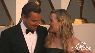 A.M.P.A.S. - Kate Winslet and Best Actor Winner Leonardo DiCaprio reunite on the 2016 Oscars Red Carpet in Hollywood. To see ...