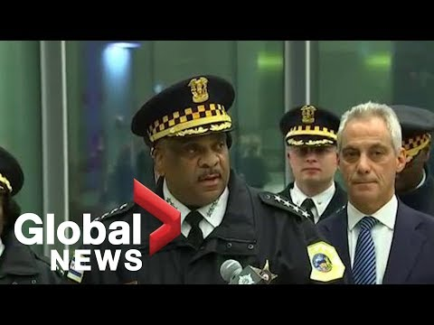 Chicago mayor Rahm Emanuel and police provide update on shooting at Chicago's Mercy Hospital