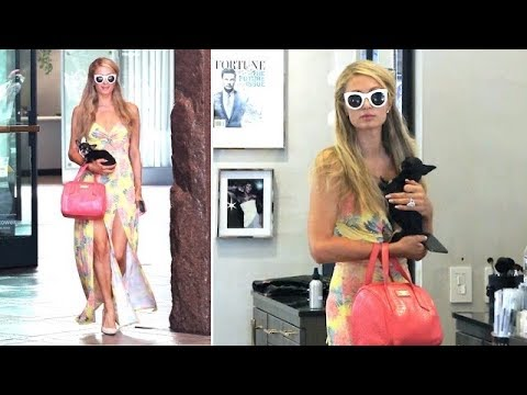 Paris Hilton Goes Pre-Wedding Shopping With Her Beloved Pup