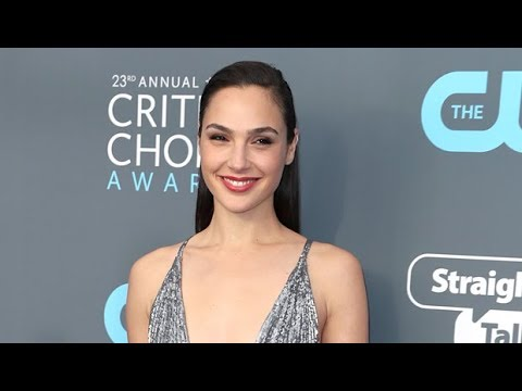 Gal Gadot Slays In Silvery Plunging Dress At The Critics' Choice Aw ards Red Carpet