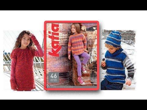 Модели вязаной одежды для детей из пряжи секционного крашения(We knit for children) видео