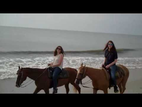 Horseback Riding  on the beach of Amelia Island with Deb