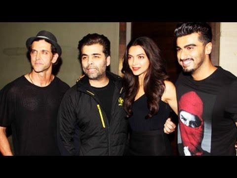 Hrithik Roshan, Karan Johar Attends Finding Fanny Special Screening   Deepika Padukone, Arjun Kapoor