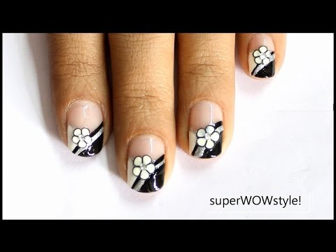 nail art - fimo flower