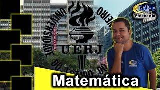 Questão resolvida que caiu no vestibular da Universidade Estadual do RJ (UERJ) que abordou a trigonometria e suas aplicações e área da figura.