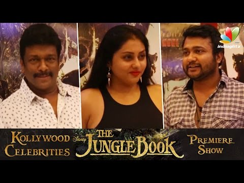 Namitha-Bobby-Simha-Parthiepan-and-More-celebrities-at-Jungle-Book-Premiere-Show