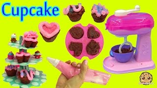 Make Real Cupcakes with Cool Baker Magic Mixer Maker Playset and Chef Barbie Doll