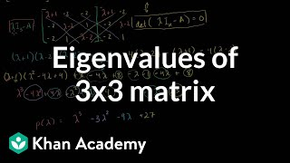Linear Algebra: Eigenvalues of a 3x3 matrix