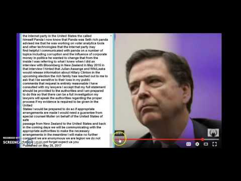 Comey Memo - Contract To Kill Trump WIKILEAK