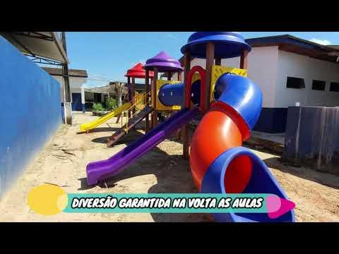 Playgrounds são instalados nas Escolas Municipais de Apiacás