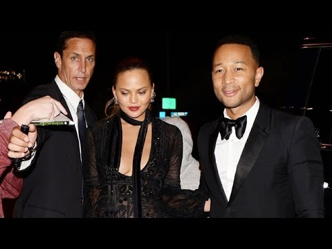 John Legend And Chrissy Teigen Flawless At The Golden Globes Party