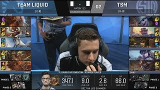 TL VS TSM Game 2 Full Replay : https://www.youtube.com/watch?v=ErXDF3W0OiY