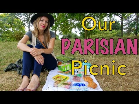 Having a picnic in Paris, France