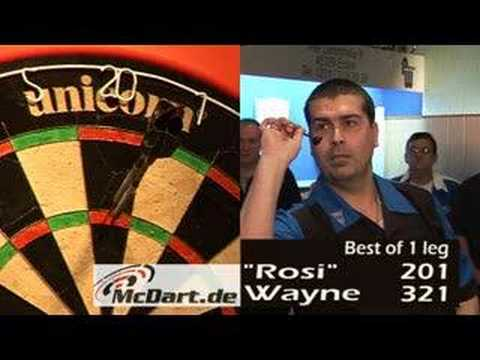 darter - Wayne Mardle plays his 22 gramm Darts with his mouth for the perfekt Game ! The funnyest Dartgame in the world !