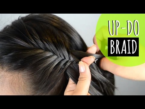 Recogido Con Trenza - Up Do With A Braid (peinados Faciles - Easy Hairstyles) JUSTDONE