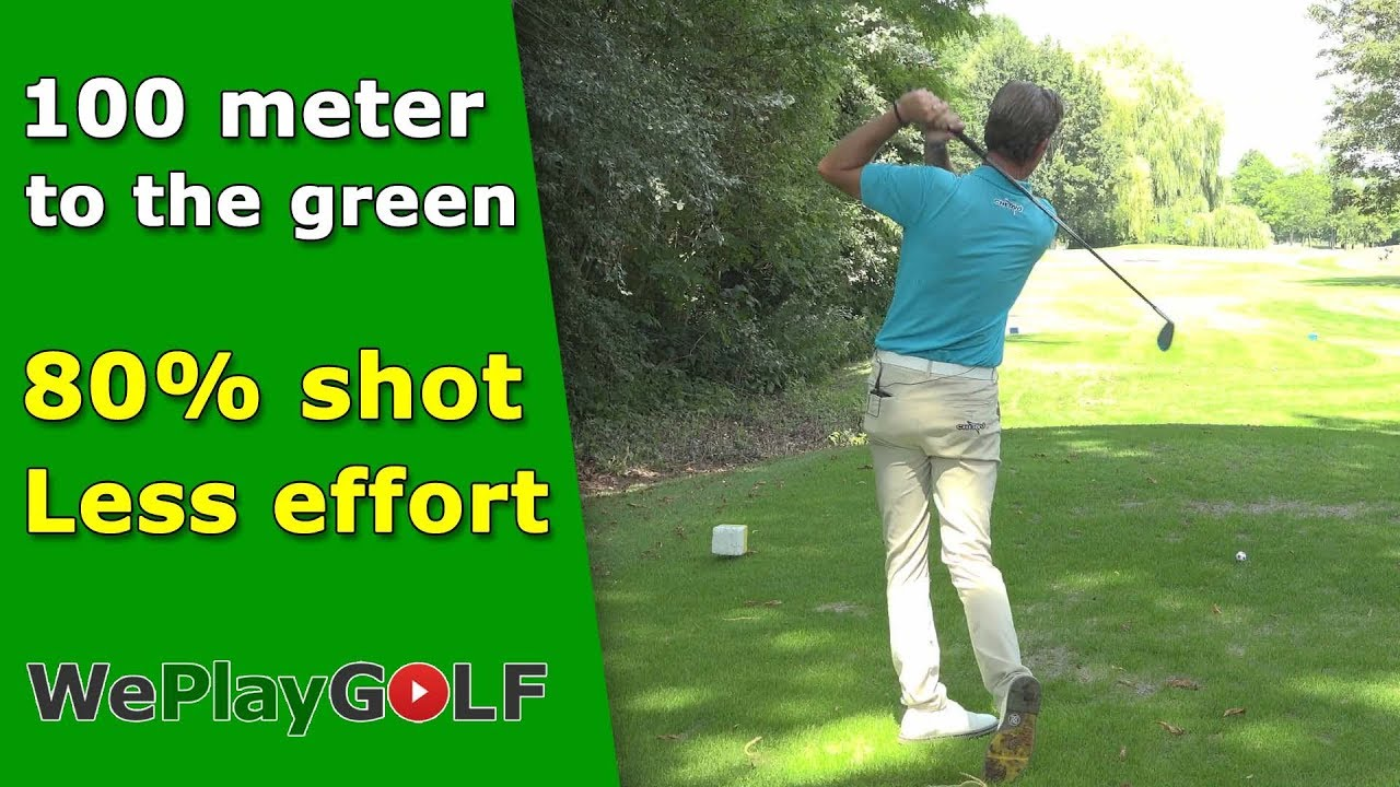 80% golf shot to the green - Less effort, better result
