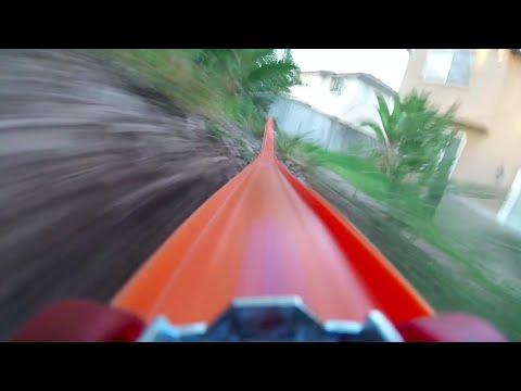 Video Camera On Hot Wheels Toy Car Riding Down
