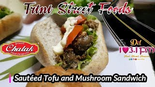 Trini Street Foods - Sautéed Tofu and Mushroom Sandwich at Veg Out, UWI