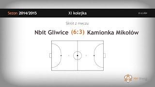 Nbit Gliwice – Kamionka Mikołów (11 kolejka) - skrót
