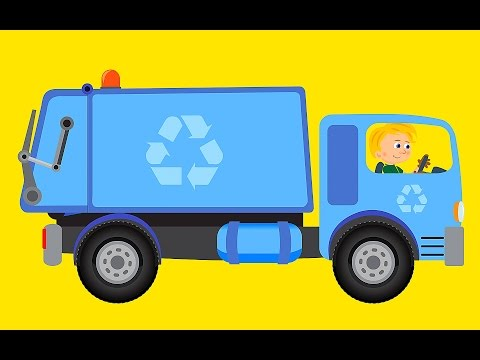 SUPER OLI AND HIS GARBAGE TRUCK - Video For Children :D