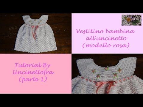 uncinetto - tutorial vestitino per il battesimo