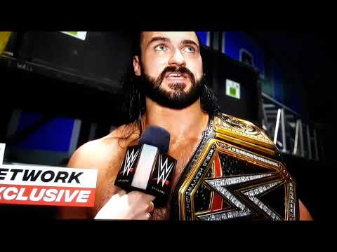 Drew McIntyre celebrates his second Wwe Championship victory:Wwe network Exclusive,Nov.16,2020
