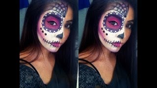 Easy Sugar Skull Halloween Tutorial - YouTube