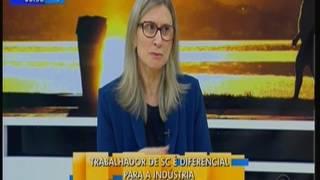 23/06/2017 - RBS TV - Bom Dia SC - Estela Benetti comenta pesquisa realizada pela FIESC que mostra o investimento da...