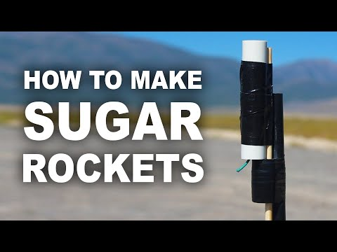 "rocket - How to make hobby rocket ""sugar motors"" using sugar and kitty litter, that shoot up over 2300 feet high, and cost less than $0.50 to make. Join my email list! http://bit.ly/TKOREmailList..."