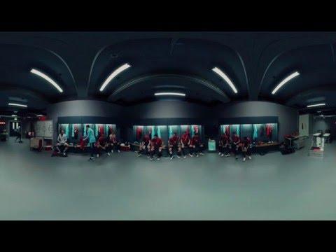 Nike - fotbalová šatna - 360° video