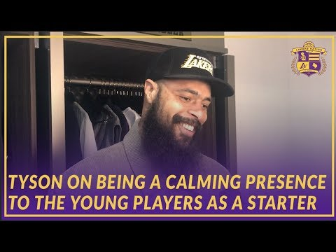 Video: Lakers Post Game: Tyson Chandler On Being A Calming Presence for Young Players As A Starter