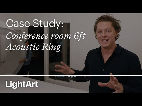 LightArt 6ft Acoustic Ring: Case Study - Conference Room