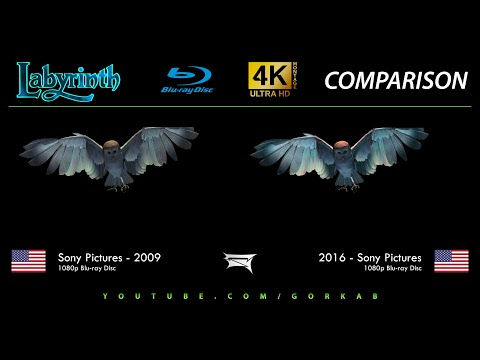 Blu-ray Versus - Labyrinth (2009 vs 2016) Comparatif 4K ULTRA HD