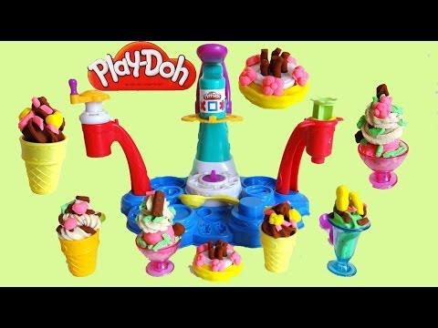 Play Doh Magic Swirl Ice Cream Shoppe Unboxing