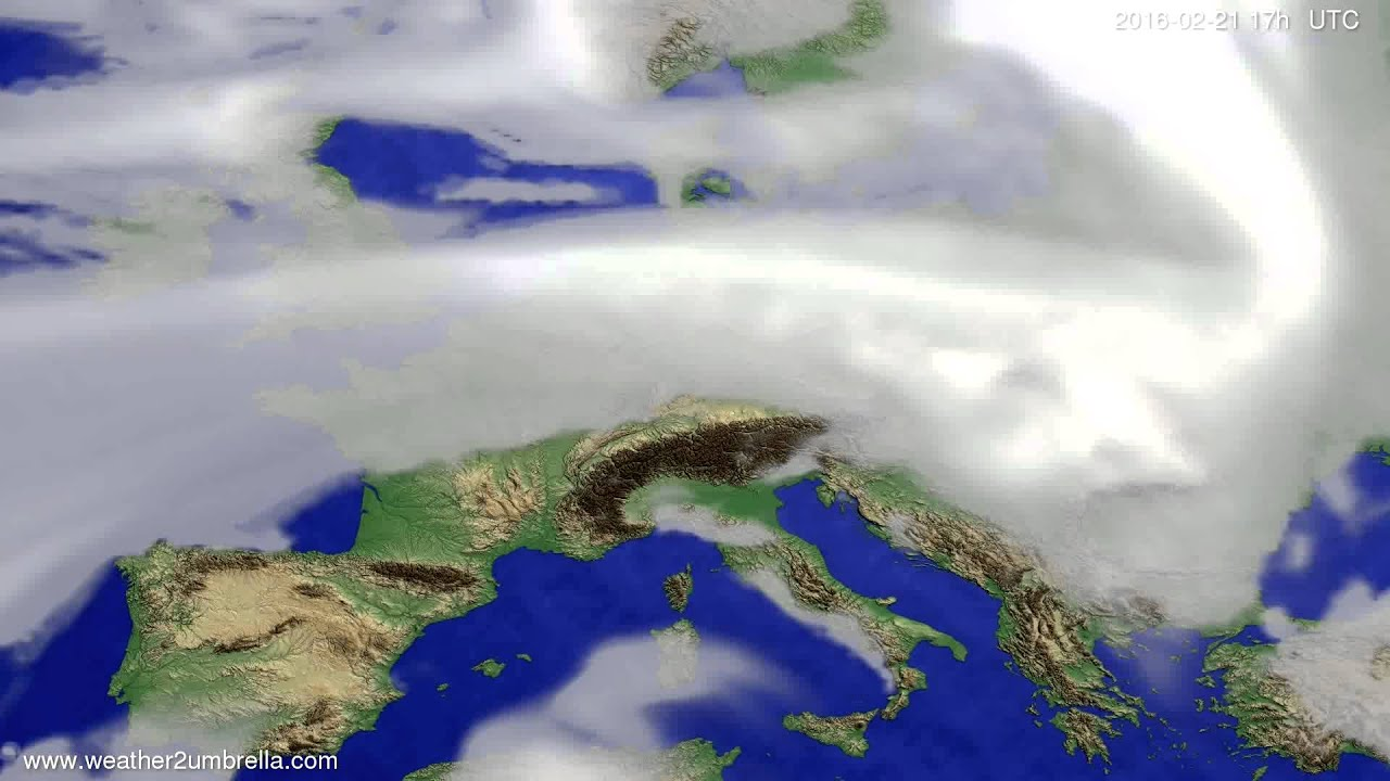 Cloud forecast Europe 2016-02-19