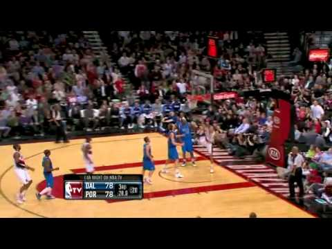 Wesley Matthews to Brandon Roy against Mavericks