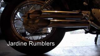 9. Yamaha V-Star 250, XV250, Virago 250, Jardine Exhaust Modification