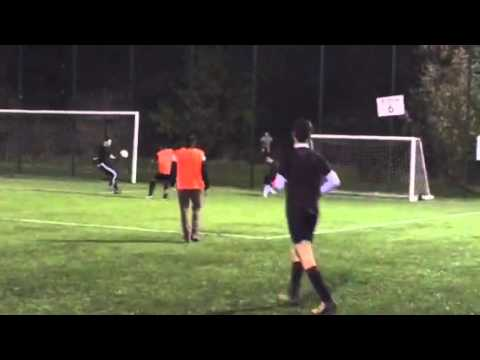 Talented Stevenage U16 footballer Lewis Lodge bangs 1 in the net with class