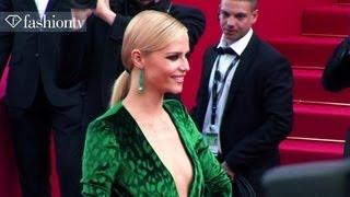 Cannes 2012 Red Carpet: Natasha Poly, Salma Hayek, Ellen Von Unwerth, Virginie Couperie | FashionTV
