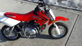 7. 2017 Honda CRF50, Running + Ride