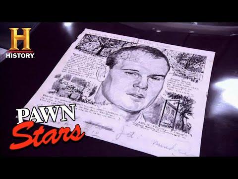 SUPER WEIRD Murder Trial Sketches are Worth a Ton | Pawn Stars (Season 7) | History