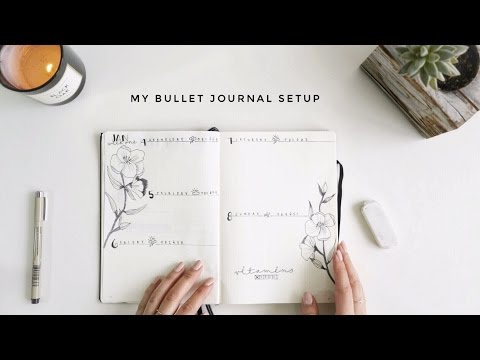 My 2017 Bullet Journal Planner Setup | Gemary