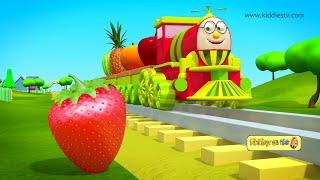 हम्प्टी ट्रैन और उसके फल दोस्तों से मिलिए    Humpty the train on a fruits ride   kiddiestv hindi