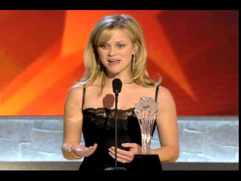 Reese Witherspoon Accepting Critics' Choice Award