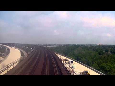 Crossing the Huey P. Long Bridge on Amtrak's Sunset Limited
