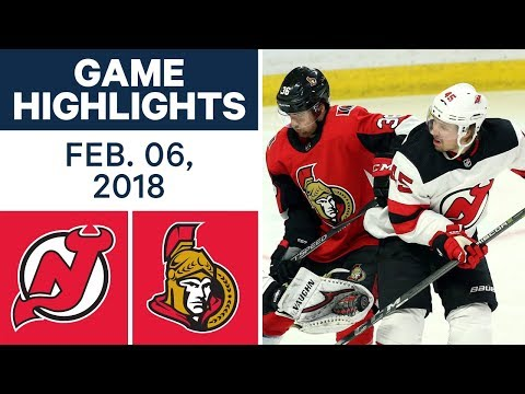 Video: NHL Game Highlights | Devils vs. Senators — Feb. 06, 2018