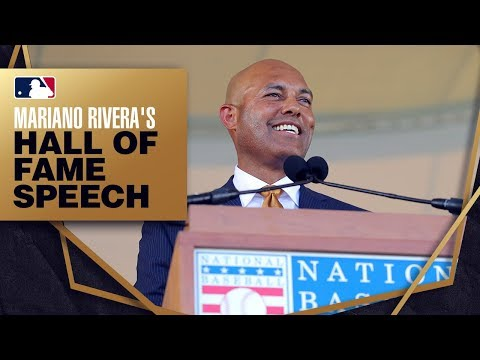 Video: Mariano Rivera is inducted into the Hall of Fame