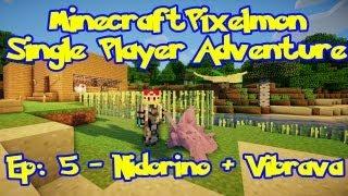 Pixelmon! Minecraft Pokemon Adventure: Episode 5, Nidoran + Vibrava (Beta 2.2.0.5)