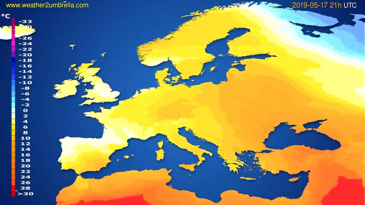 Temperature forecast Europe // modelrun: 12h UTC 2019-05-15
